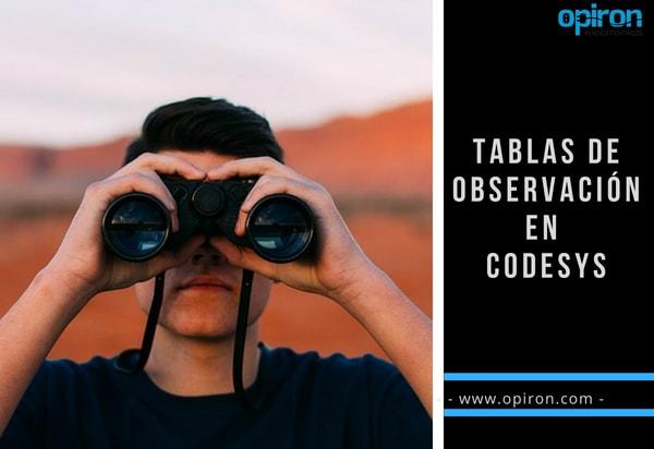 tablas de observación en codesys